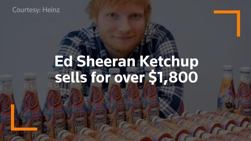 Ed Sheeran Ketchup bottle sells for over $1,800