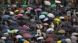 Rain fails to keep Hong Kong's protesters away