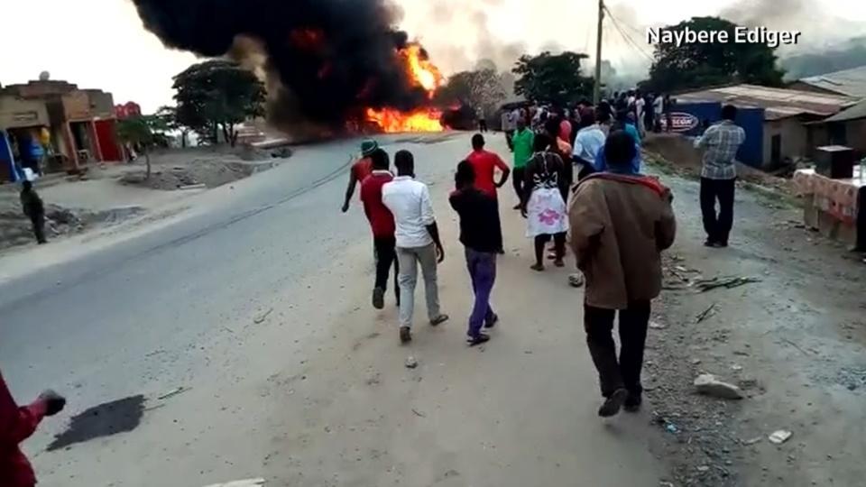 Fuel truck crash kills many in Uganda