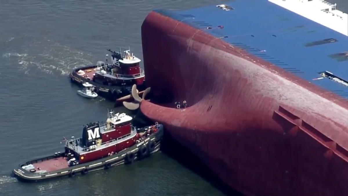 U.S. rescues last crew member from S. Korean ship
