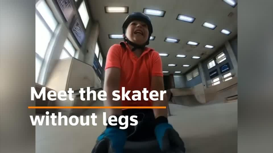 10 year-old skater without legs goes viral after Tony Hawk shoutout
