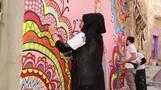 شباب الموصل يزينون جدران المدينة العراقية برسوم تنبض بالحياة