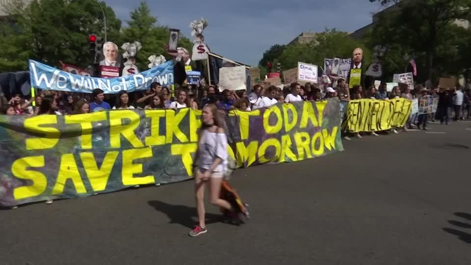 """Today, Mother Earth wins"": Climate activists in D.C."