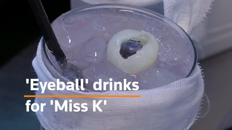 Protest-inspired 'eye ball' drinks on the menu at Hong Kong restaurant