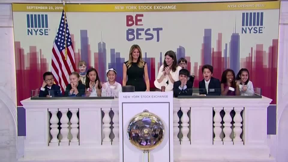 Melania Trump rings opening bell at NYSE