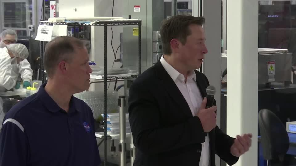 SpaceX CEO Elon Musk and NASA chief Jim Bridenstine address Twitter...