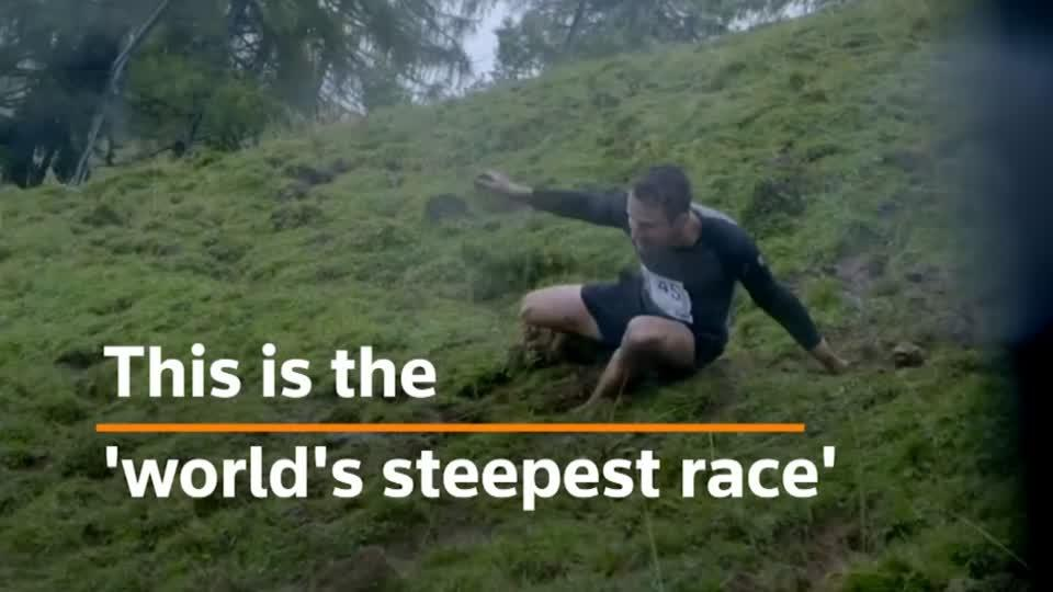 It's all downhill from here: the world's steepest downhill running race