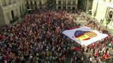مناوئو الانفصاليين في قطالونيا ينظمون احتجاجا مضادا في برشلونة