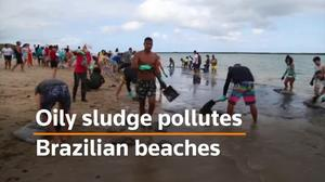 Brazilian beaches plagued by mysterious oil slick