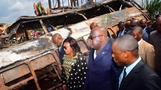 DRC president visits deadly bus crash site