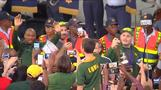 Springboks arrive back in South Africa after World Cup triumph
