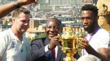 Springboks begin Rugby World Cup celebrations in Pretoria