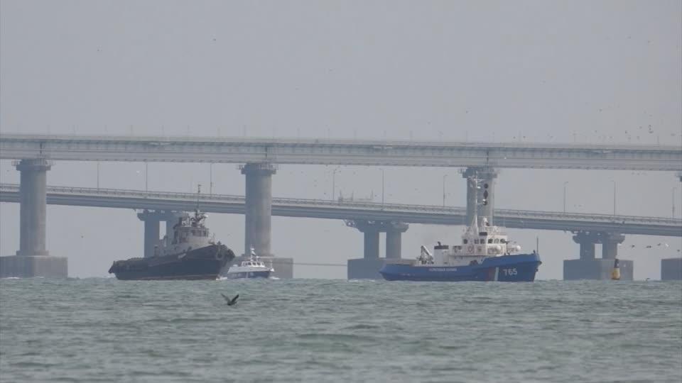 Russia begins moving captured Ukrainian ships