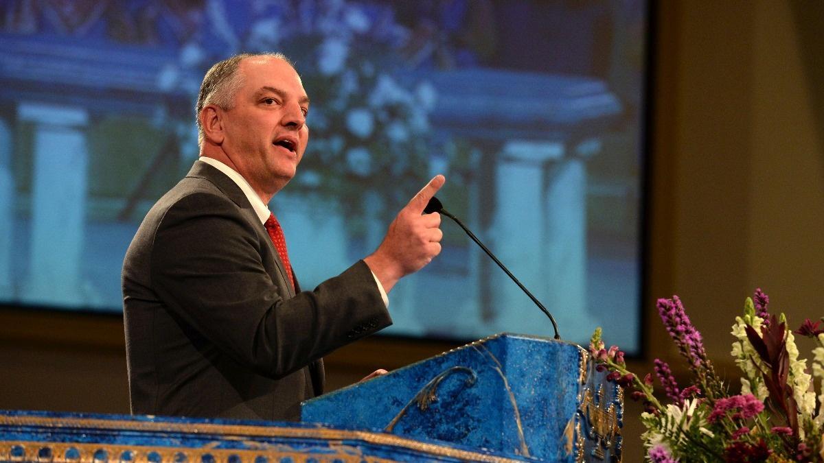 Louisiana's Democratic governor wins re-election