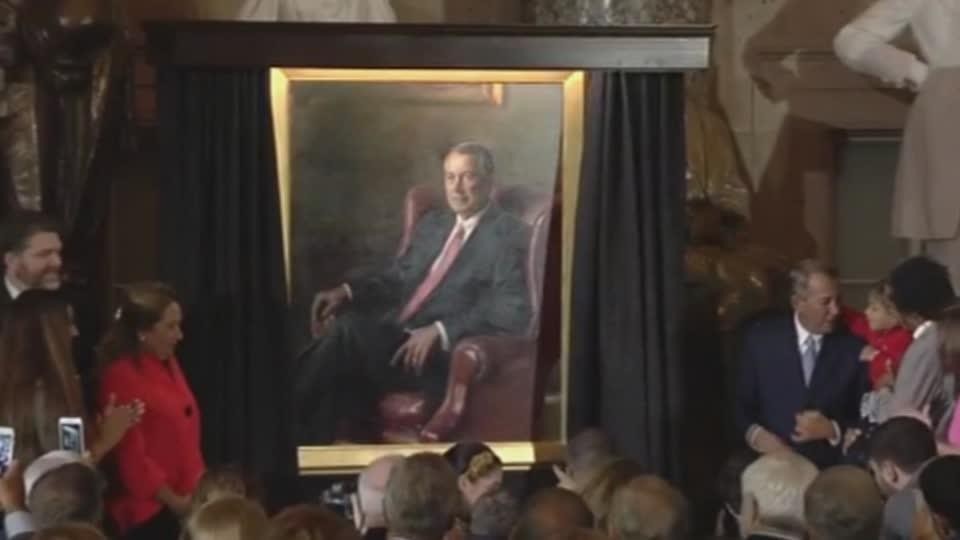 Portrait of former Speaker Boehner unveiled
