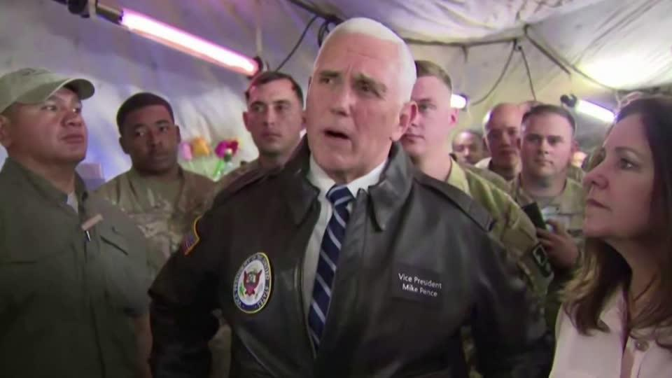 Vice President Pence makes surprise stop in Iraq