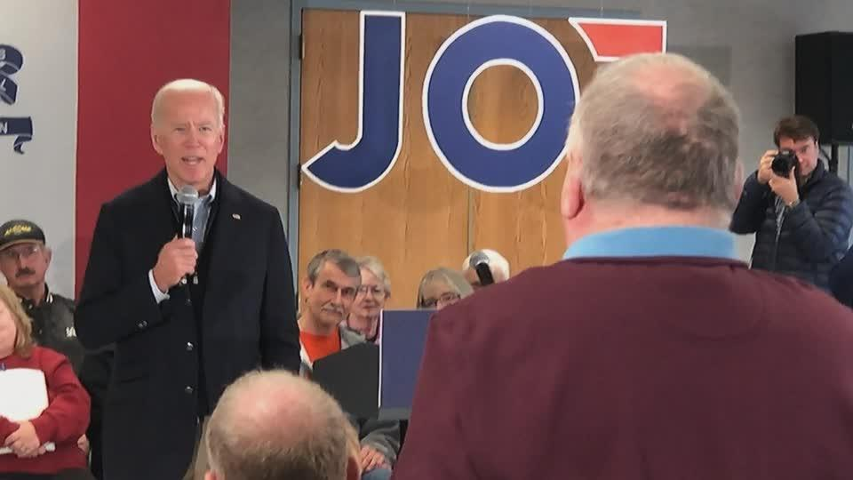 'Get your words straight!': Biden spars with Iowa voter