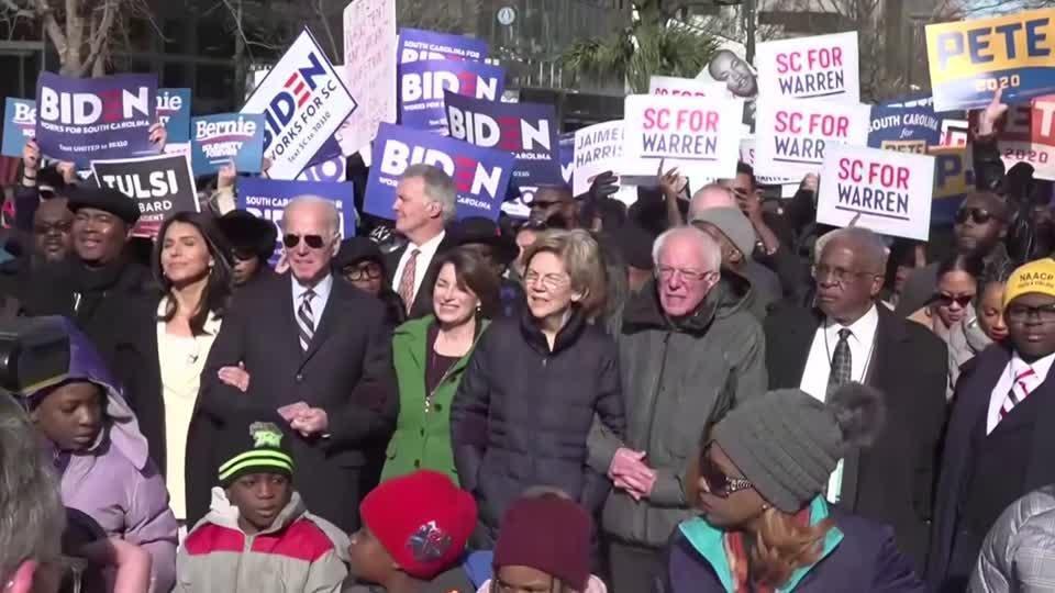 Democrats enjoy moment of harmony to mark King birthday