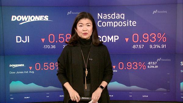 NY株下落、新型コロナウイルス感染拡大を懸念(24日)