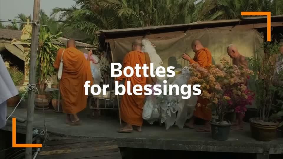 The Buddhist monks recycling plastic bottles into robes