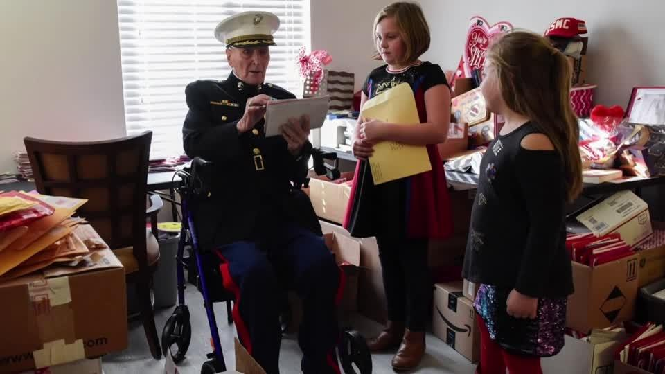 Some 70,000 Valentines sent to 104-year-old veteran