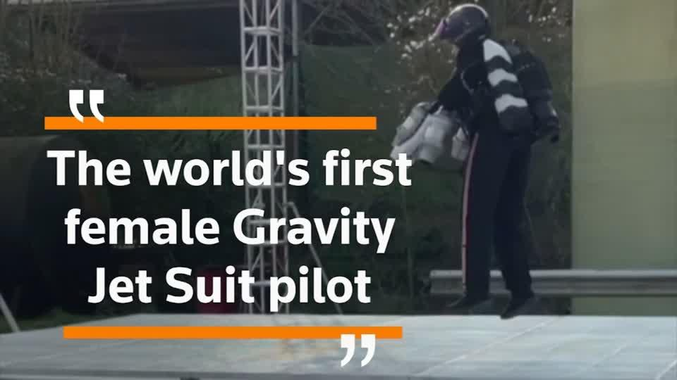 'World's first female jet suit pilot' hopes to inspire other women