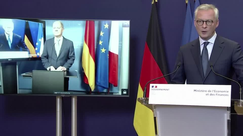 "Franco-German recovery grants idea a ""historic step"" - Le Maire"
