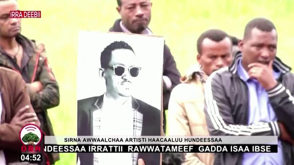 Tensions high as Ethiopia buries protest singer