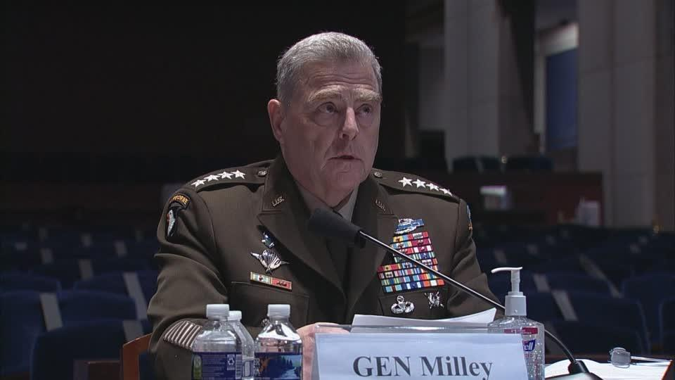 Milley: 'Personally outraged' by George Floyd's death