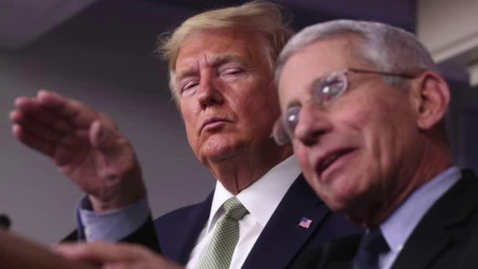 Trump-Fauci tension rises as virus cases soar
