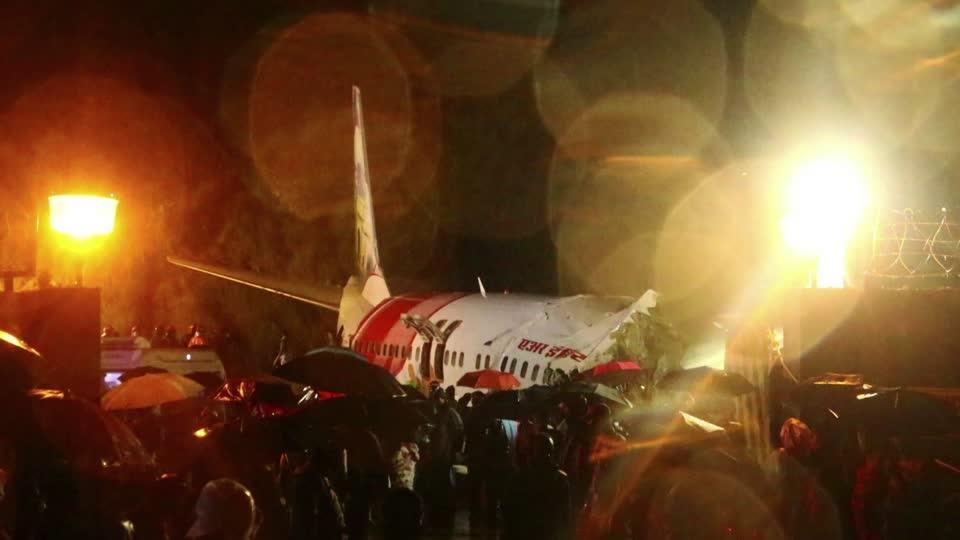 At least 17 killed in Air India flight crash