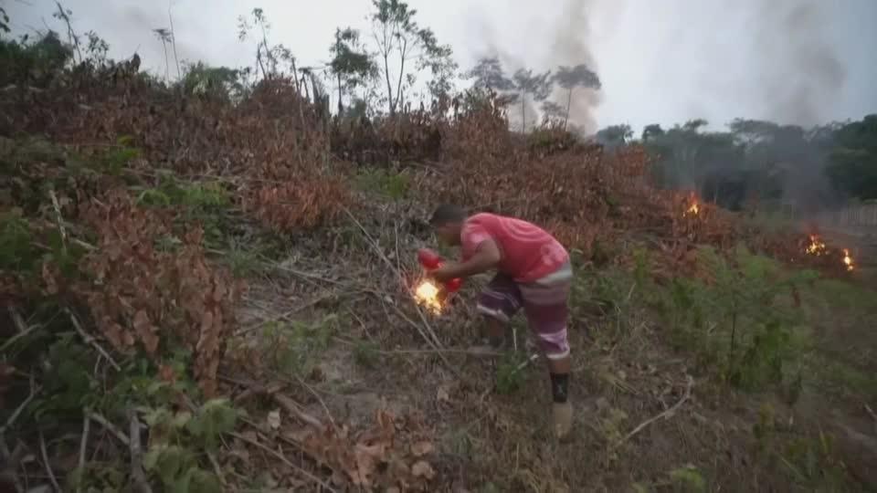 Bolsonaro calls surge in Amazon fires a 'lie'