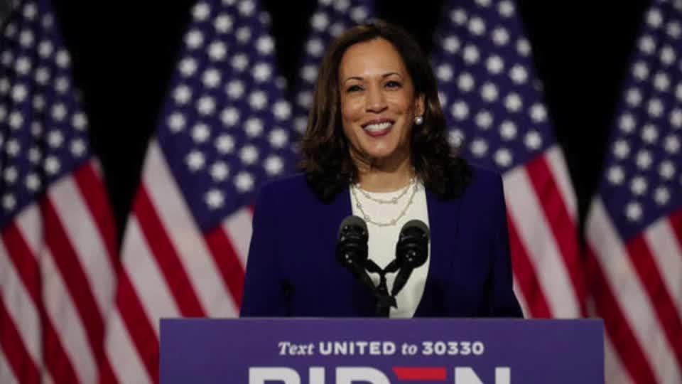 Harris makes debut with Biden, slams Trump