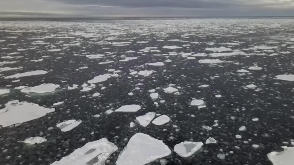 Drone footage shows extent of Arctic ice loss