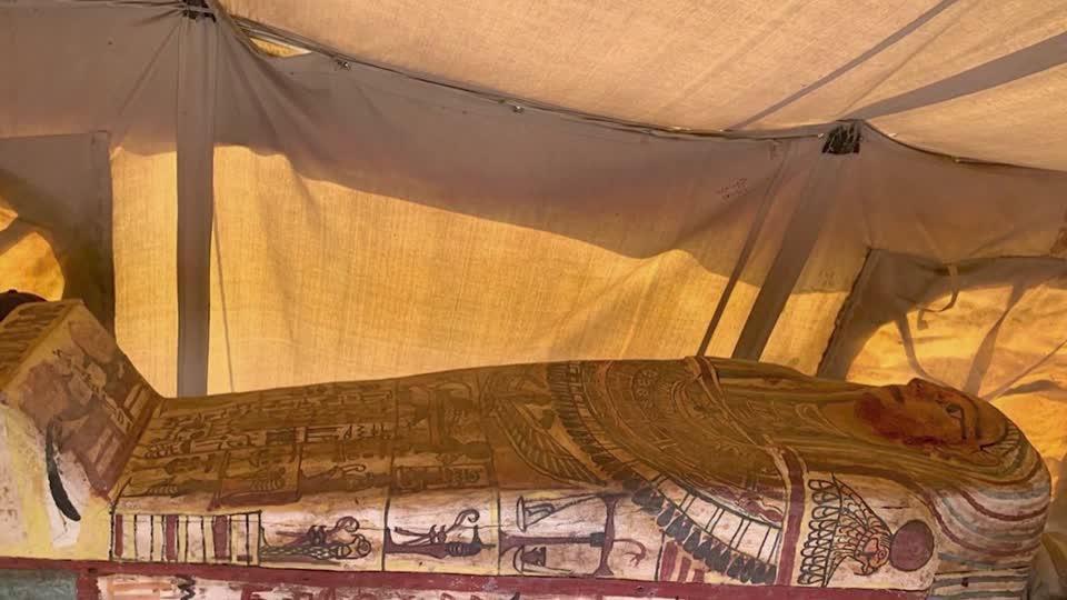 Egypt finds dozens of unopened sarcophagi