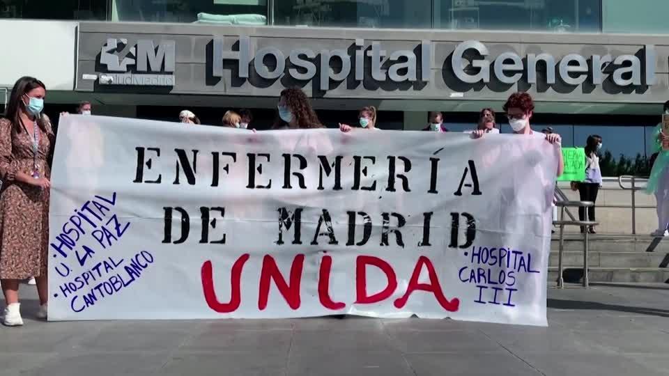Madrid health workers demand better conditions
