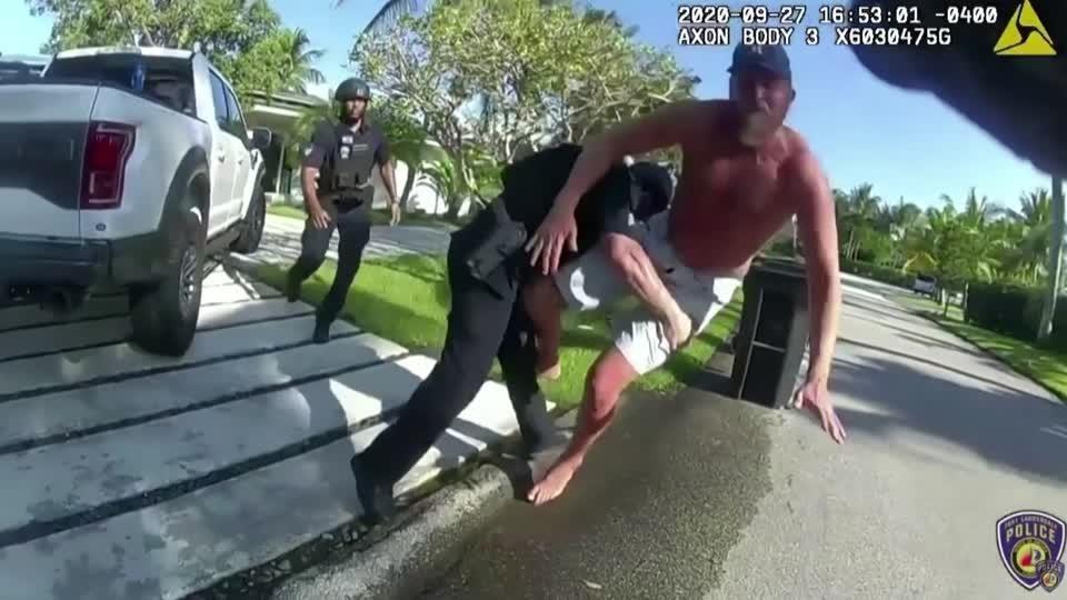 Bodycam captures cop tackling Trump campaign aide