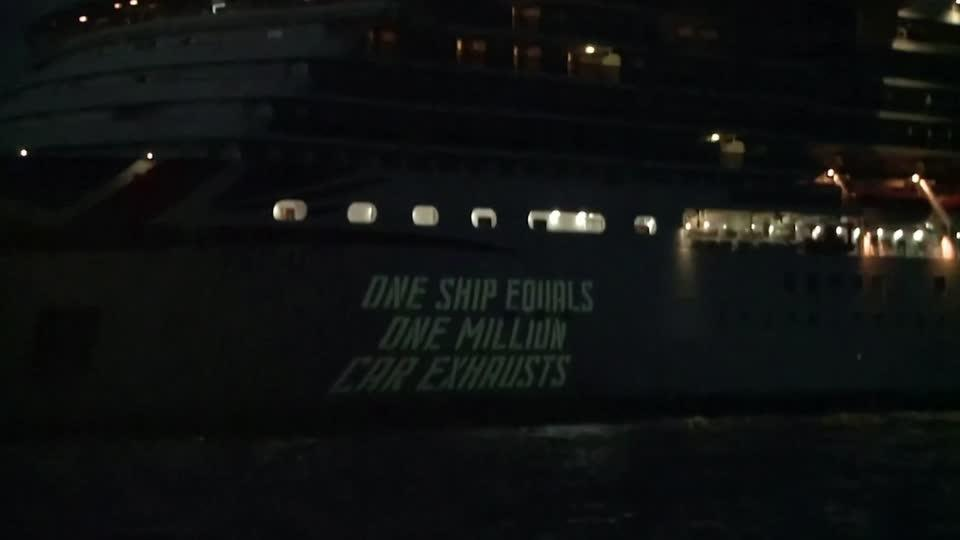 Climate activists target cruise ship industry