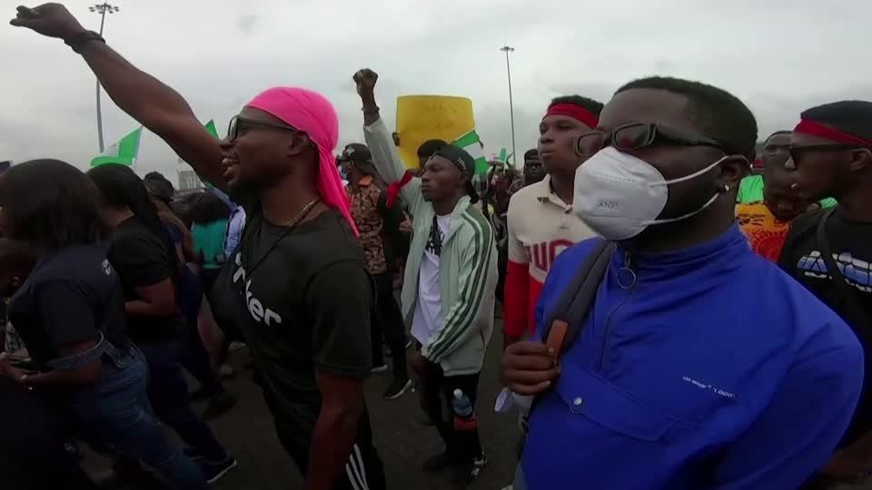 Young Nigerians rally protests with social media