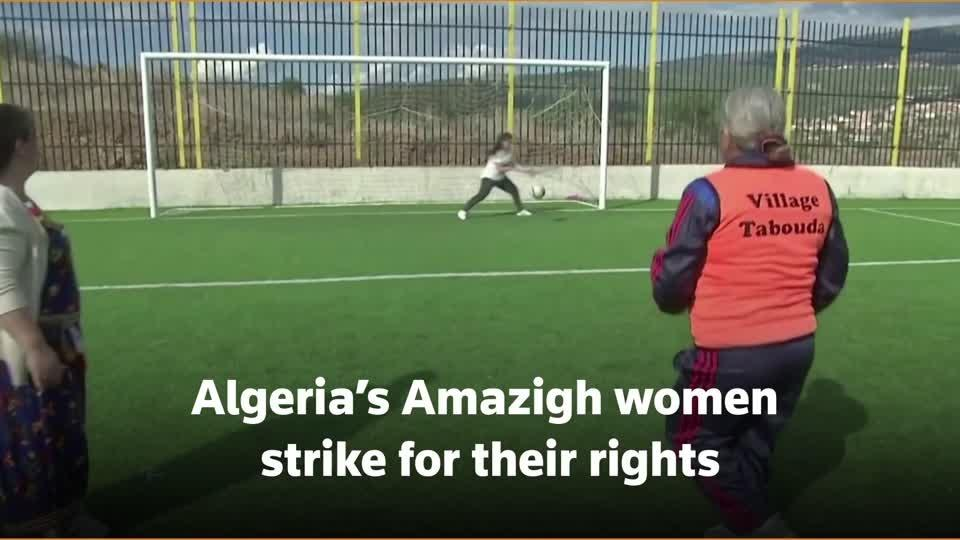 Algerian women push for rights at soccer tournament