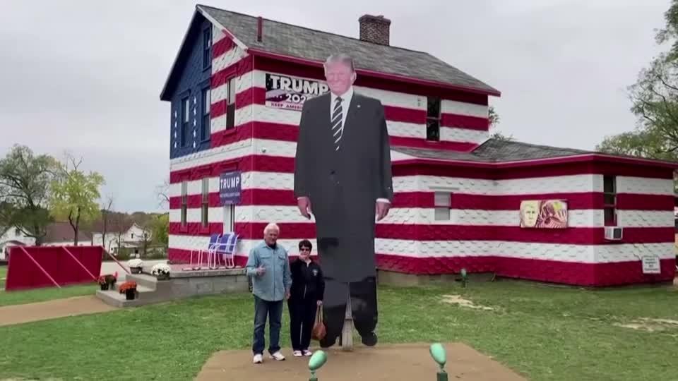 A shrine to Trump in a 2020 battleground state