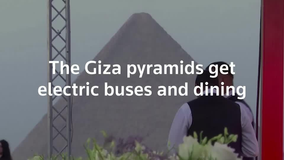 Giza pyramids get electric buses and restaurant
