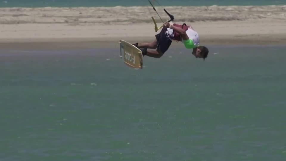 This kitesurfing stunt got a 'perfect' score