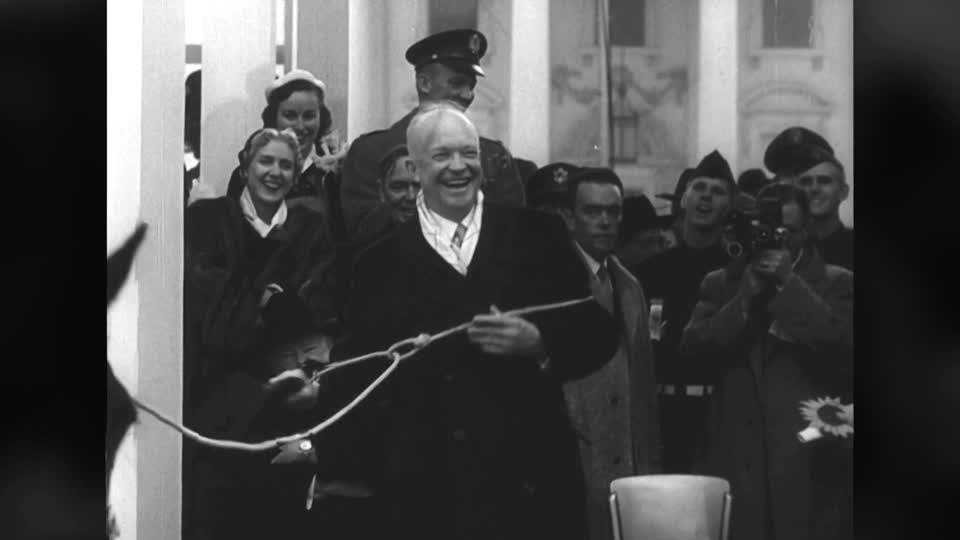 Eisenhower lassoed during 1953 inauguration