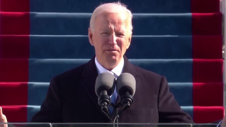 Biden calls for end to 'uncivil war' in inaugural speech