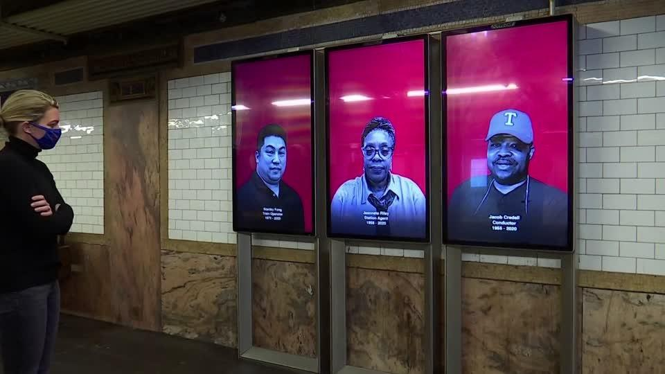 MTA memorial honors New York City transit workers lost to COVID-19