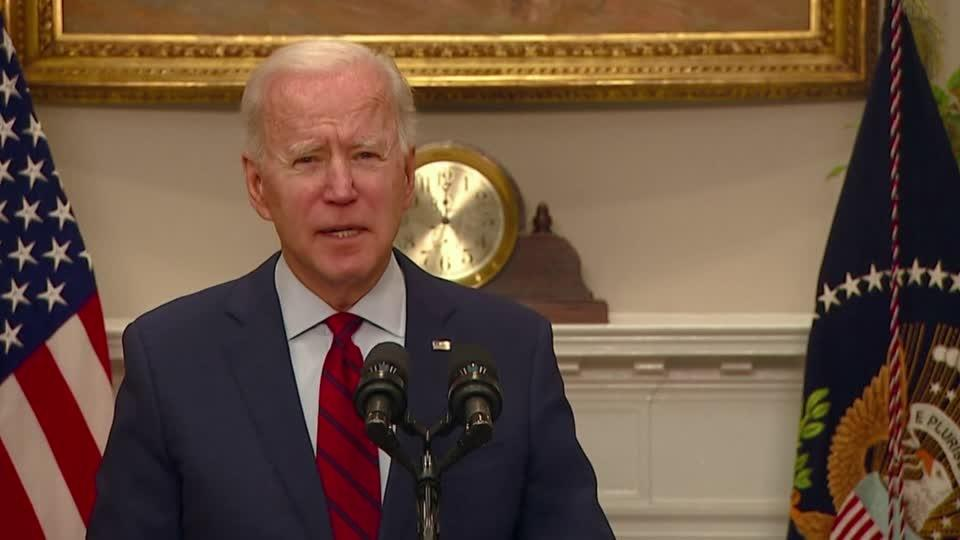 Biden urges Senate to pass COVID relief bill