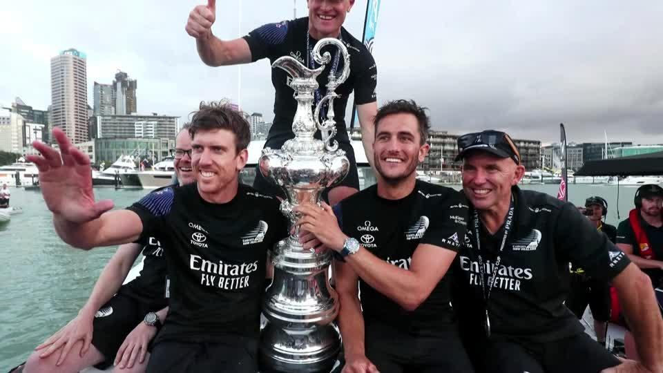 Team New Zealand savor America's Cup triumph