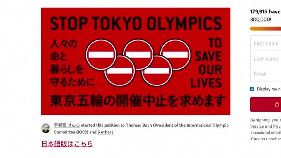 Over 230,000 sign anti-Tokyo Olympics petition