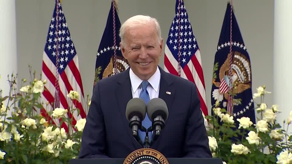 Biden says new mask guidance 'a great milestone'